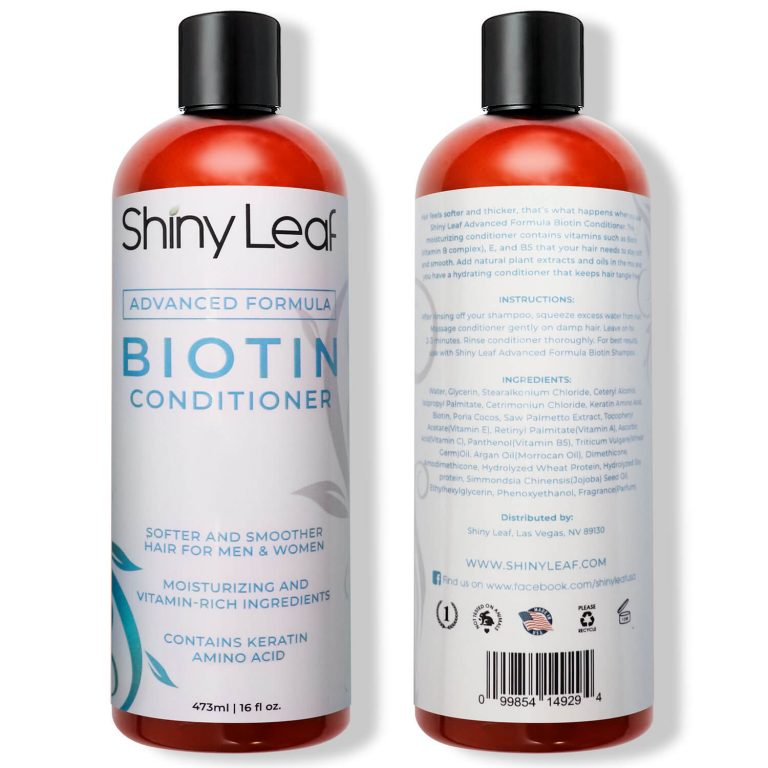 Biotin Conditioner 16 oz - Front and Back
