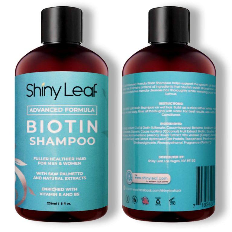 Biotin Shampoo Front Back 8 oz