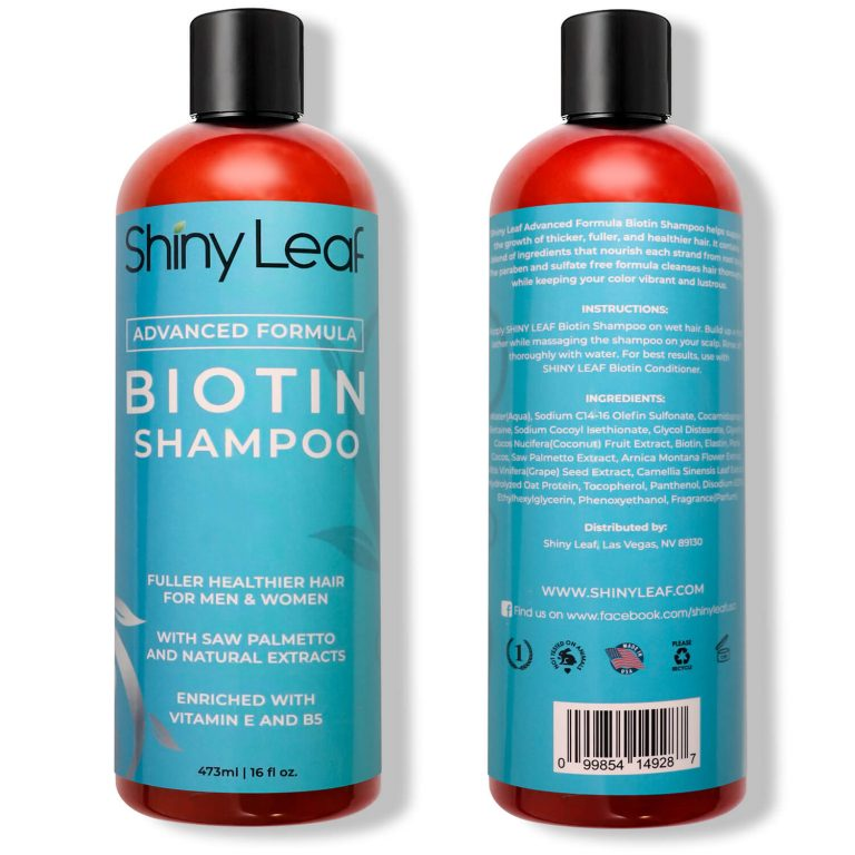 Biotin Shampoo - Front and Back