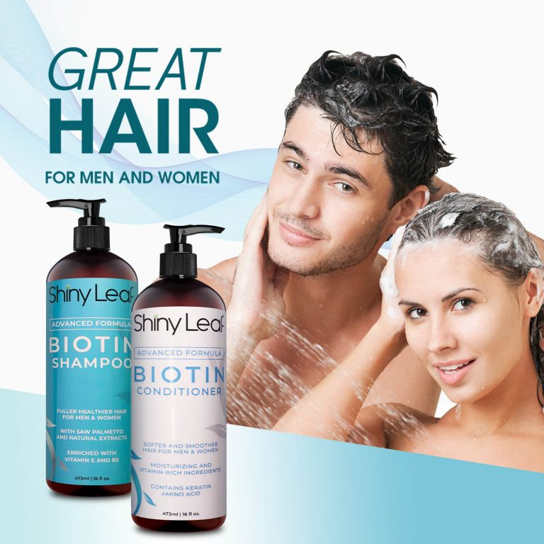Biotin Shampoo and Conditioner 16 oz for Men & Women
