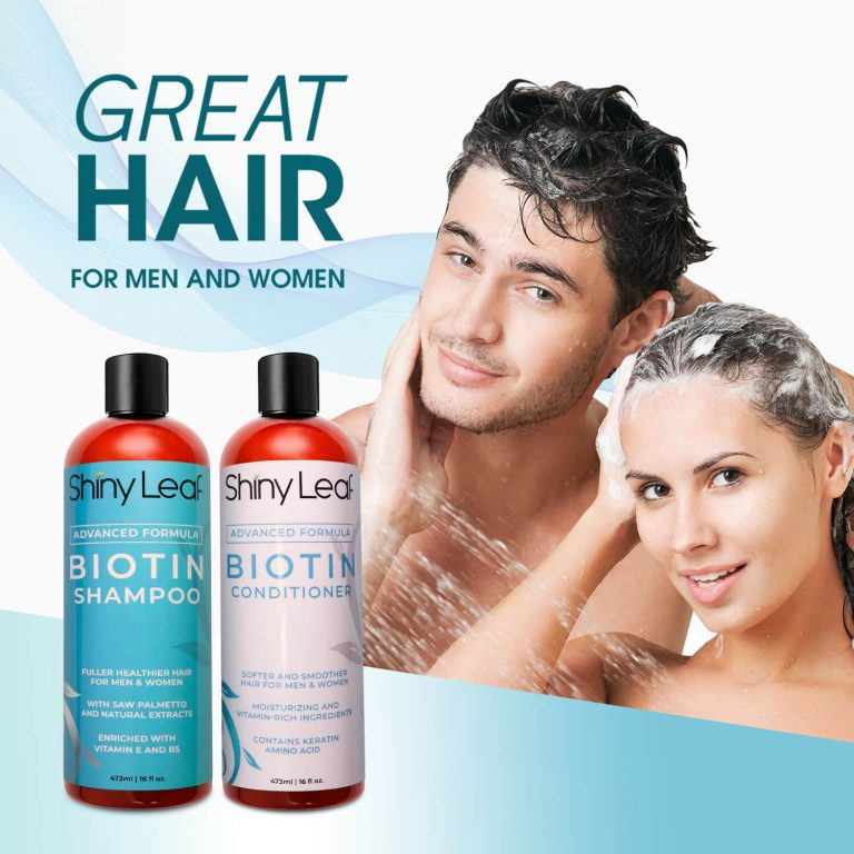 Biotin Shampoo and Conditioner 16 oz for Men and Women