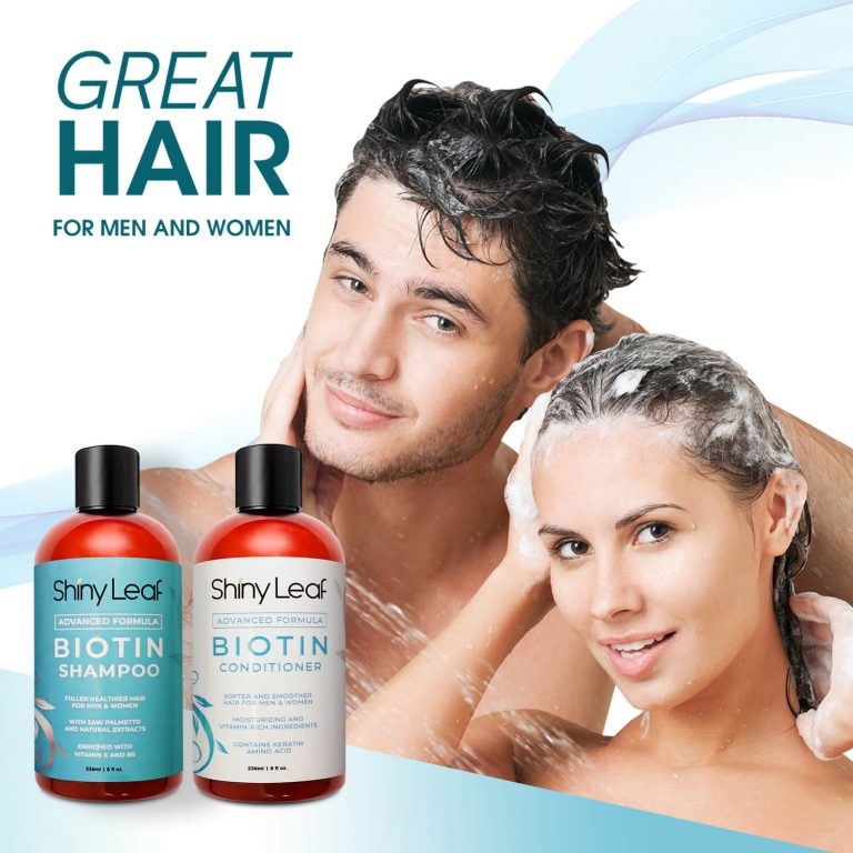 Biotin Shampoo and Conditioner 8 oz for Men and Women