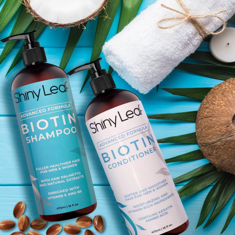Biotin Set for Hair Growth 16 oz with Pump