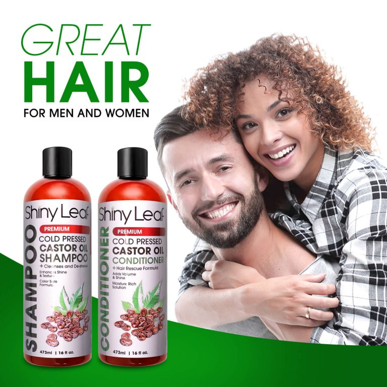 Castor Oil Shampoo and Conditioner - For Men & Women