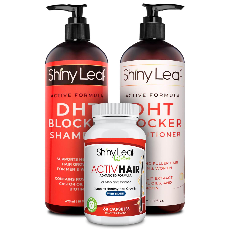 DHT Blocker Set and ActivHair Hair Loss Treatment Bundle