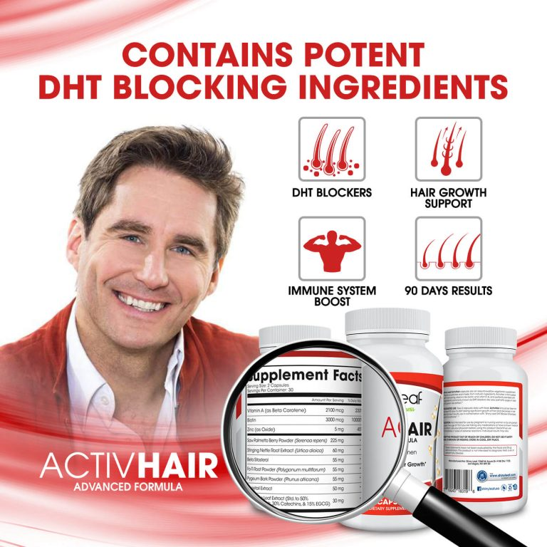 DHT Blockers - ActivHair Supplement