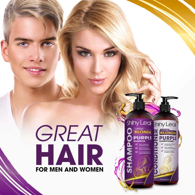 Purple Shampoo and Conditioner for Men and Women