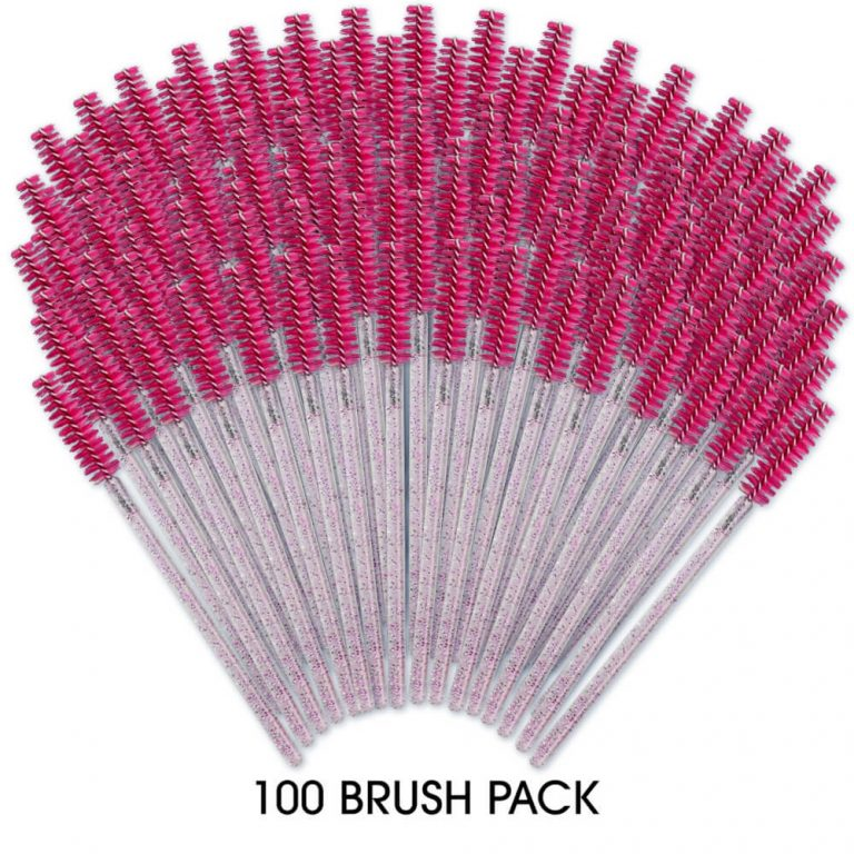 100 Pack - Mascara Brush Pink