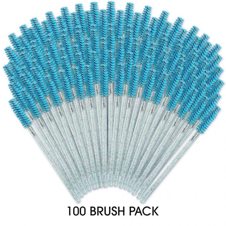 100 Pack - Mascara Brush Turquoise