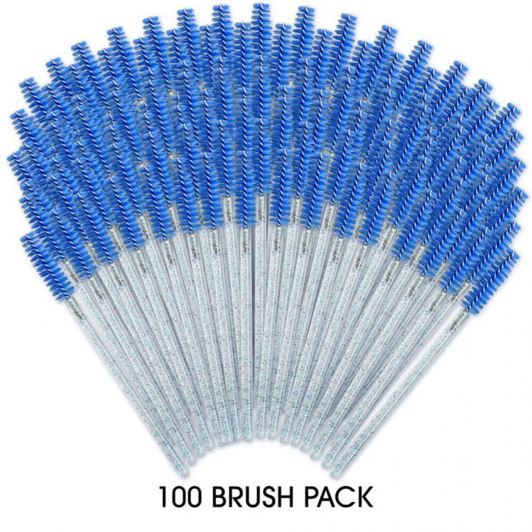 100 Pack - Mascara Brush Blue