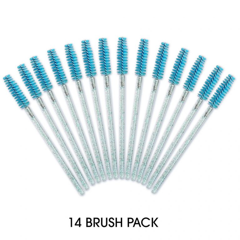 14 Pack - Mascara Brush Turquoise