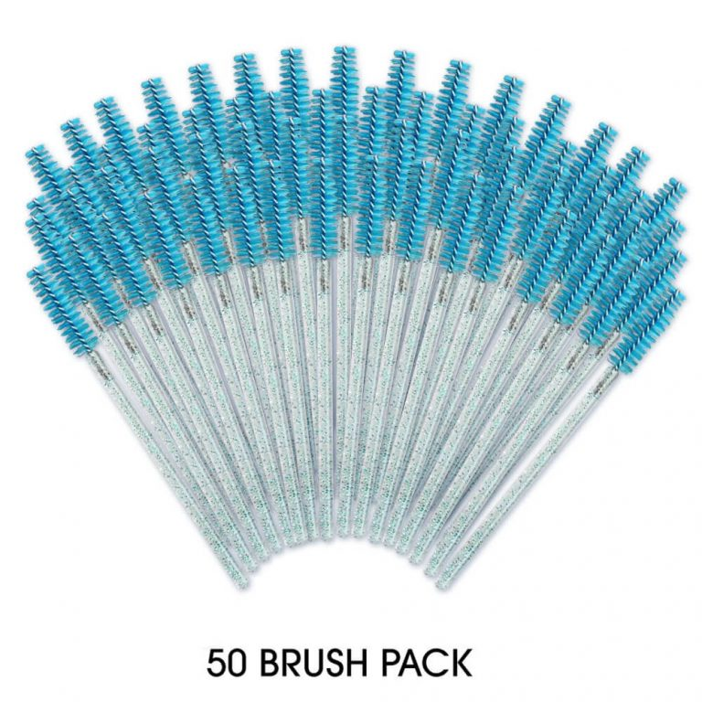 50 Pack - Mascara Brush Turquoise