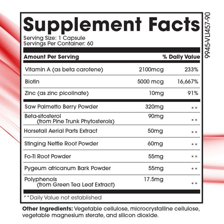 enHAIRgy Supplements Facts