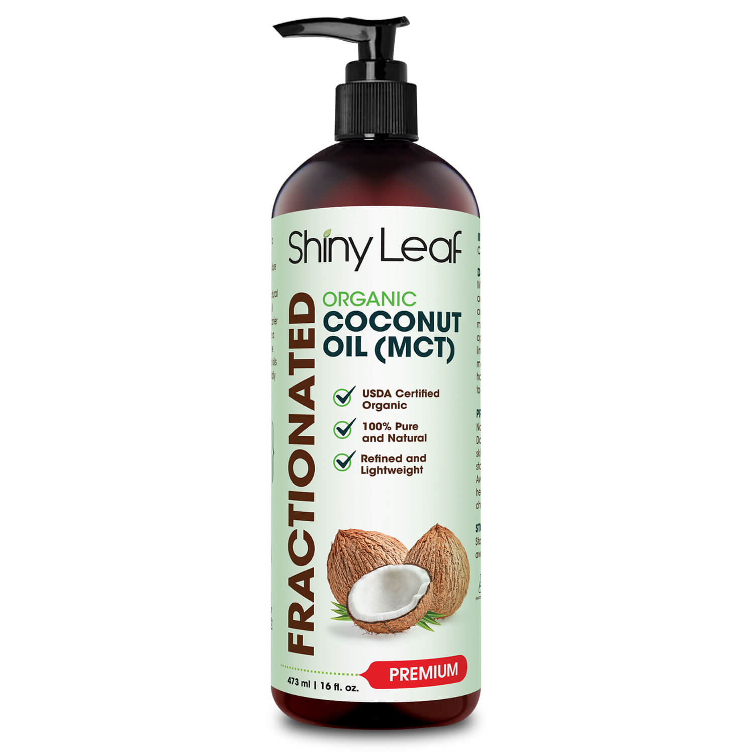 ORGANIC FRACTIONATED COCONUT OIL (MCT)