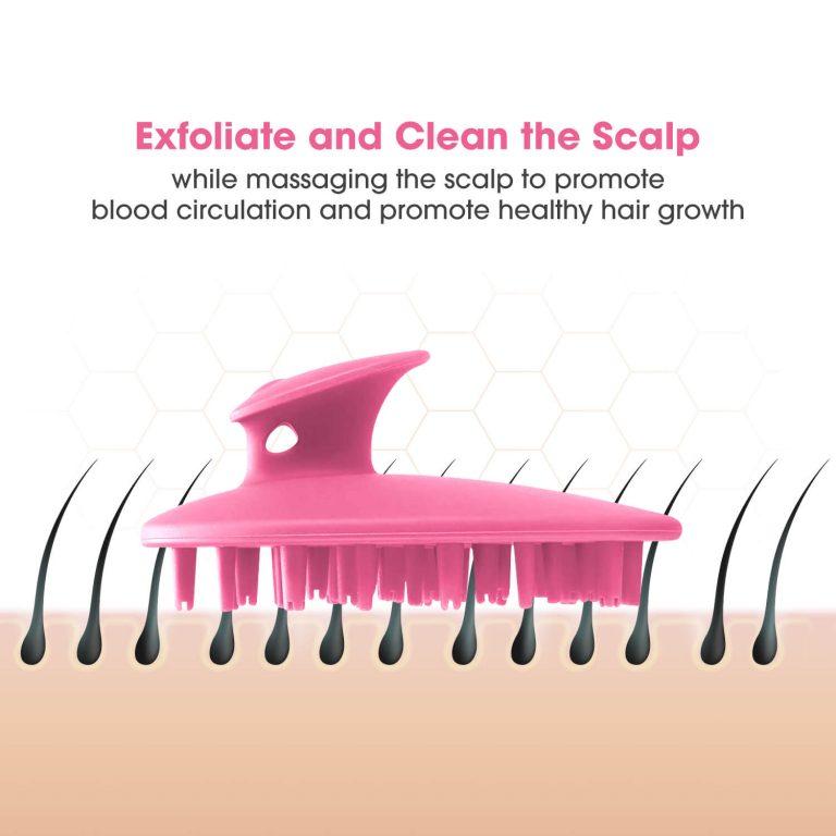 Scalp Brush for Head Massage Pink
