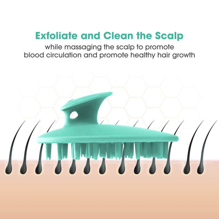 Scalp Brush for Head Massage Turquoise