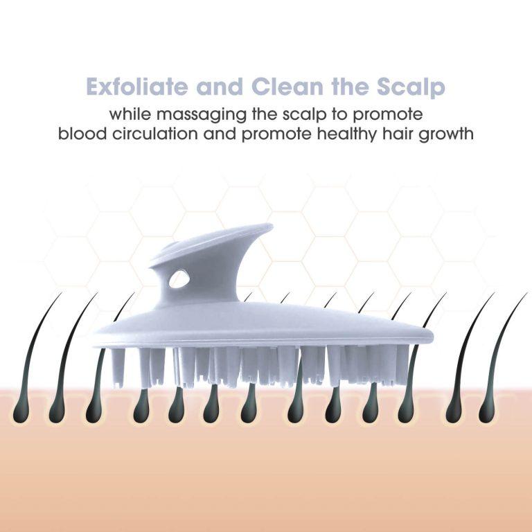 Scalp Brush for Head Massage White