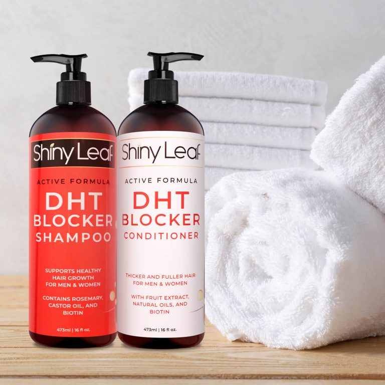 Towel with DHT Blocker Shampoo and Conditioner