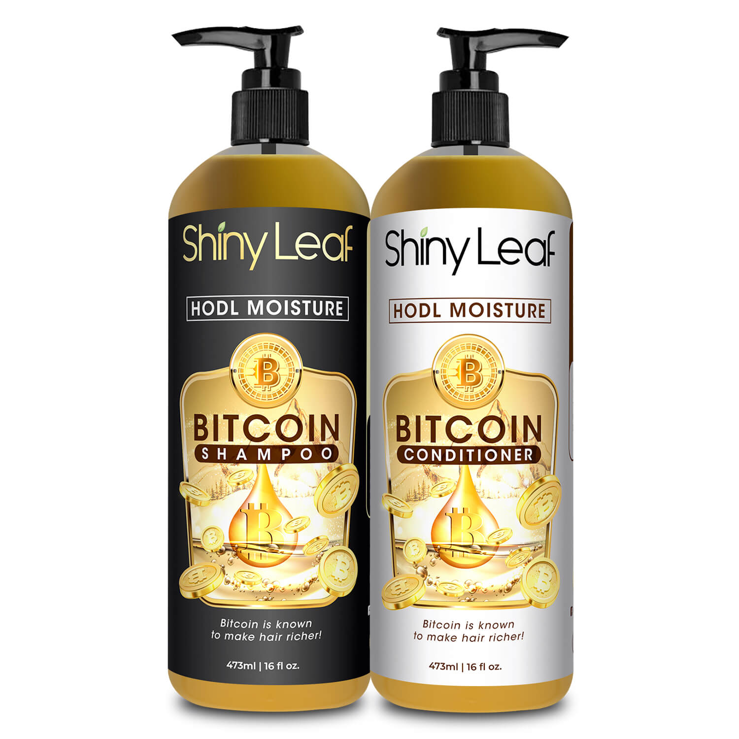 HODL MOISTURE BITCOIN SHAMPOO AND CONDITIONER SET