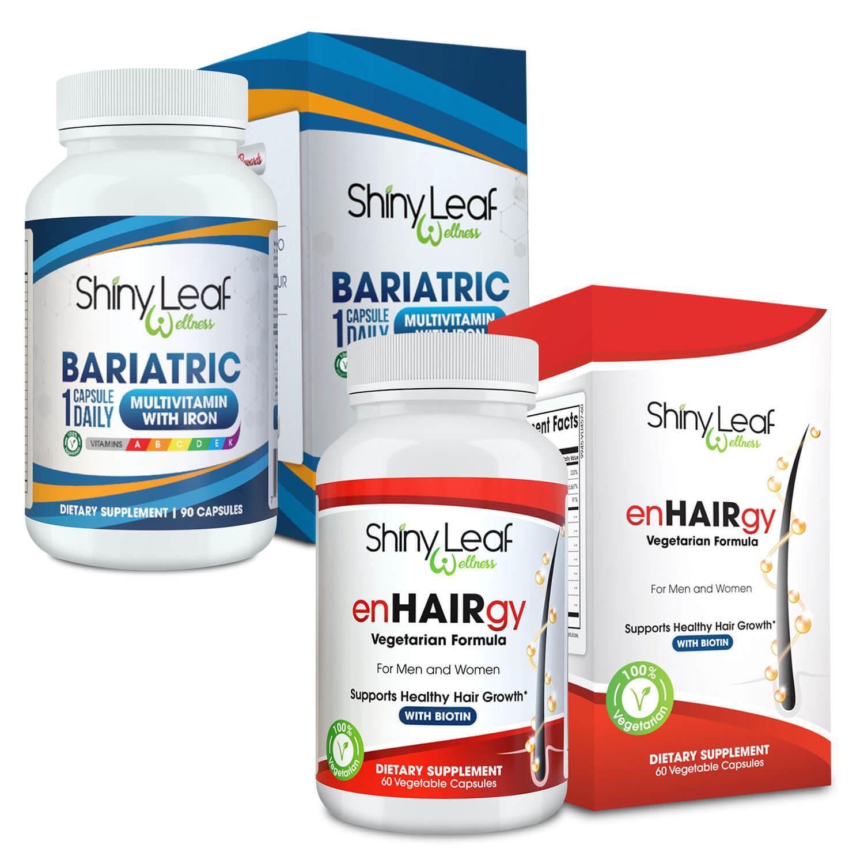 Bariatric Multivitamin and enHAIRgy Supplements Bundle