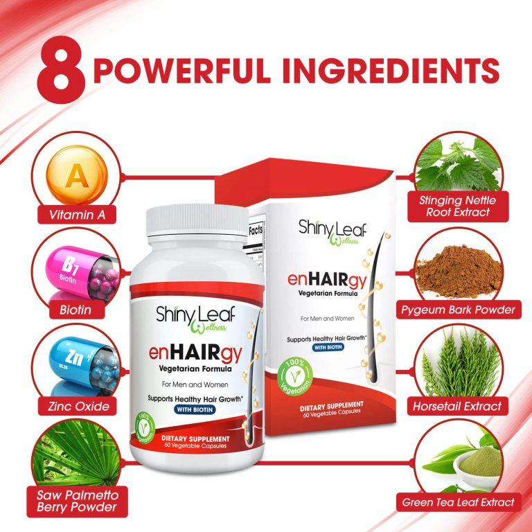 8 Powerful Ingredients - enHAIRgy Supplement