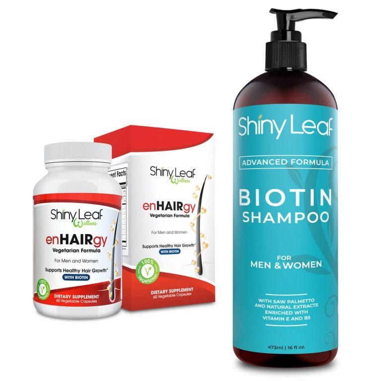 Biotin Shampoo and enHAIRgy Supplement Bundle