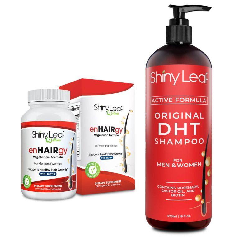 DHT Blocker Shampoo and enHAIRgy Supplements Bundle