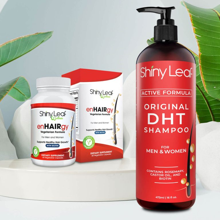 Prevent Hair Loss with EnHairGy and DHT Shampoo